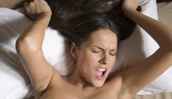 woman having orgasm