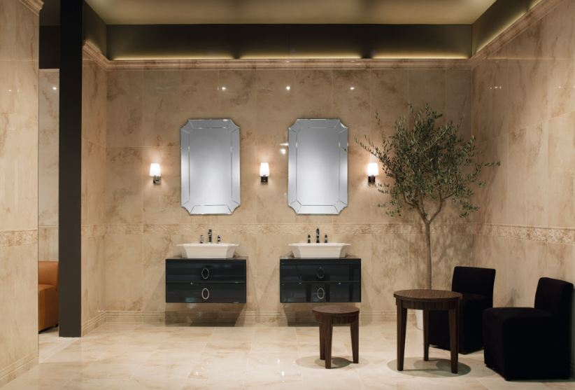 Arredo bagno di lusso o minimal - Arredo bagno marrone ...