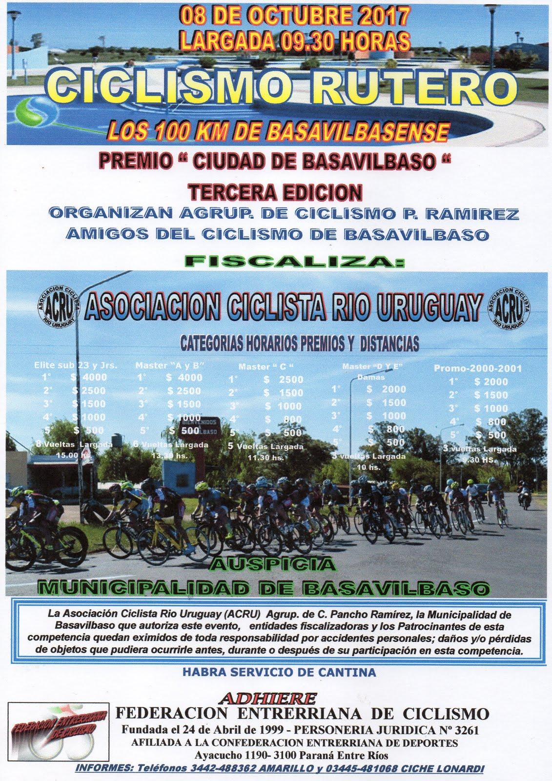 Basavilbaso - 100 Km Ciclismo Rutero