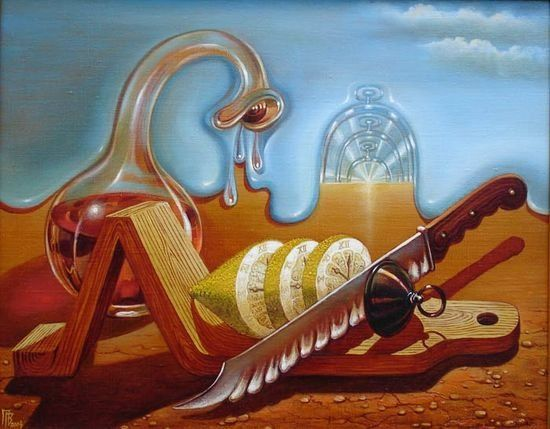 Gennady Privedentsev art paintings surreal Cutting