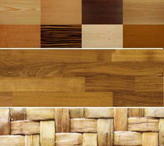 WOOD,  PARQUET, BAMBOO, THATCH,CORK, WICKER