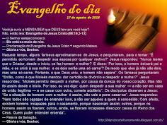 EVANGELHO DO DIA - AGOSTO 2018