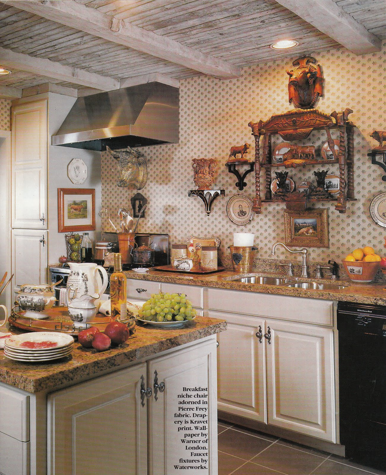 French Country Kitchen Green: Hydrangea Hill Cottage: French Country Decorating