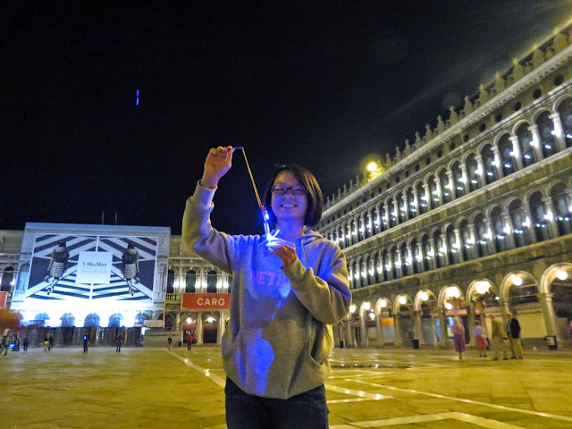 St Mark's square Venice night