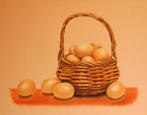Basket of Eggs (pastels)