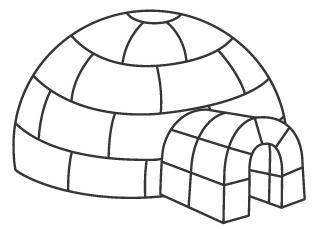 Image Gallery iglu para colorear