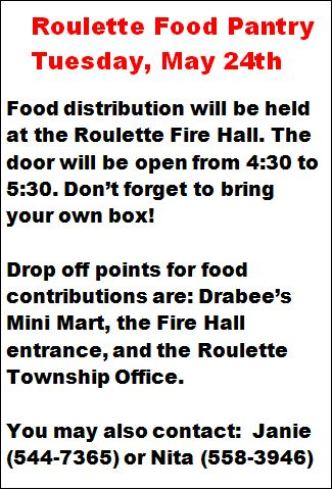 5-24 Roulette Food Pantry