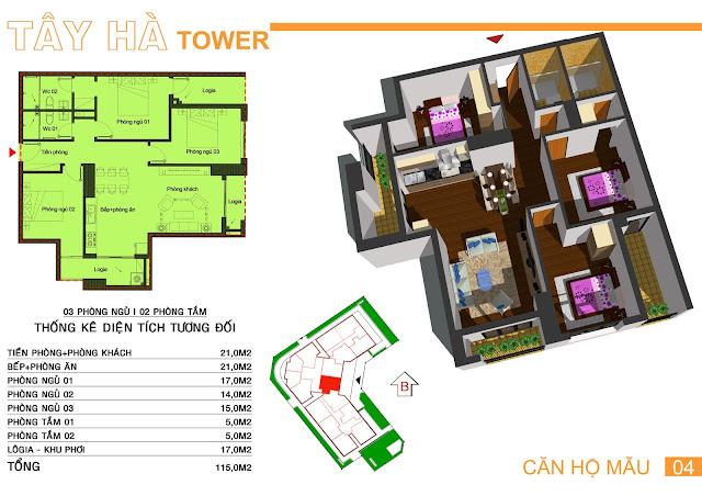 Căn số 4 chung cư Tây Hà Tower