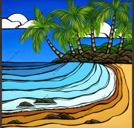hawaii surf art