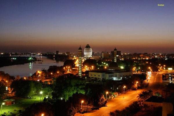Khartoum at night (Sudan)