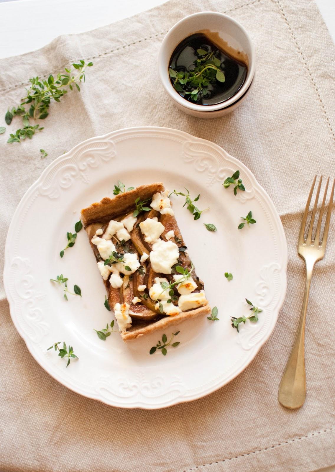 Scandi Home: Fig and Goat Cheese Tart