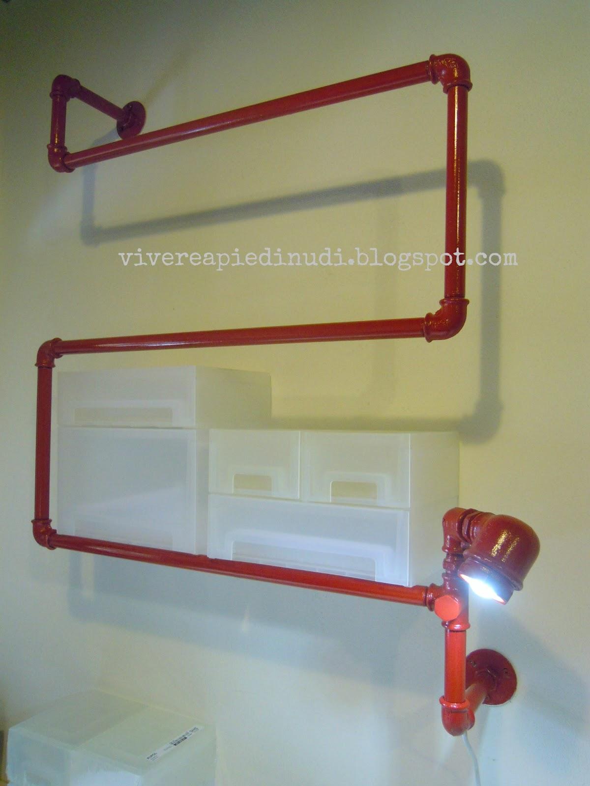 Lampade con tubi idraulici ry03 regardsdefemmes for Planimetrie da 1200 piedi quadrati