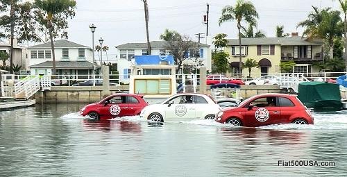 Fiat 500 water fun