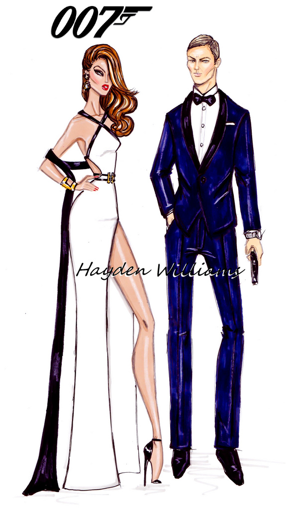 Hayden Williams Fashion Illustrations James Bond Bond Girl By Hayden Williams