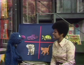 Grover, Susan, and three animals and a car