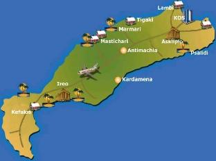 Kos Adası Haritası