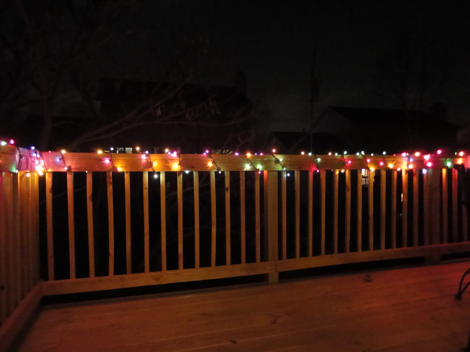 String Lights On Deck Railing : The Second Half of My Life: December 2012