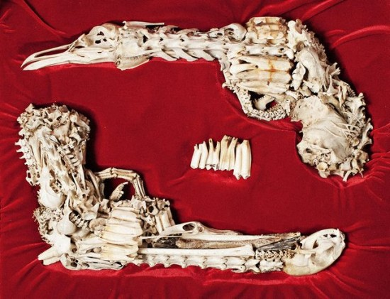 مسدس مصنوع من العظام