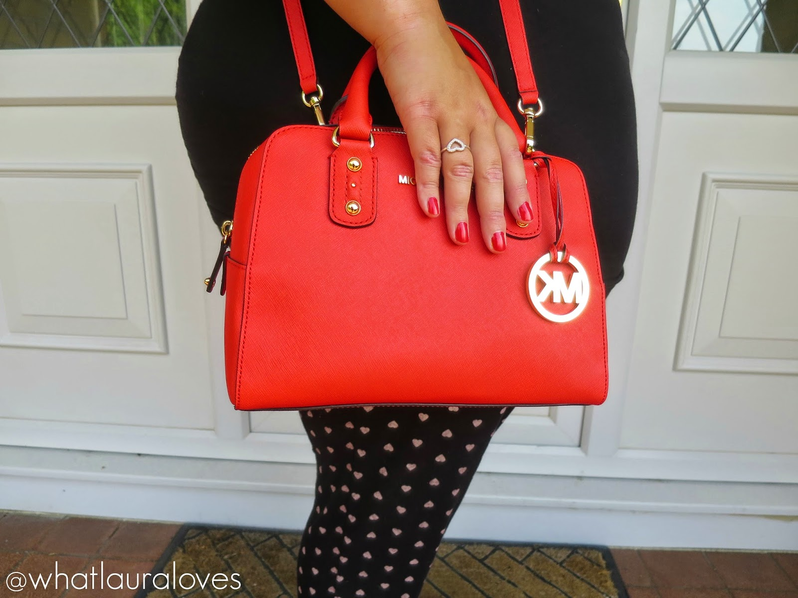 Heart Print Clothing Michael Kors Mandarin Bag