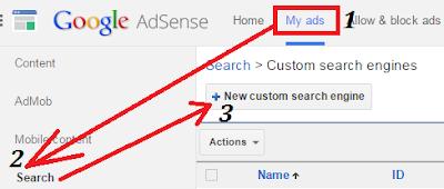gambar cara pasang iklan adsense search