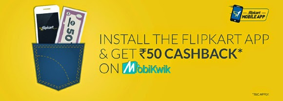 Get Rs.50 Free Recharge By Downloading Flipkart App