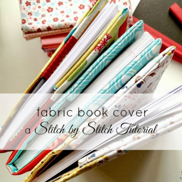Fabric Book Cover Pattern : Stitch by my tutorials patterns