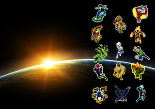Ben Ten 10 Alien Monsters free wallpapers in Space Eclipse background