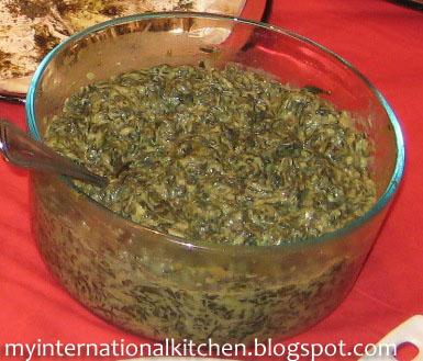 My International Kitchen: Borani Esfenaaj (Spinach and Yogurt Dip)