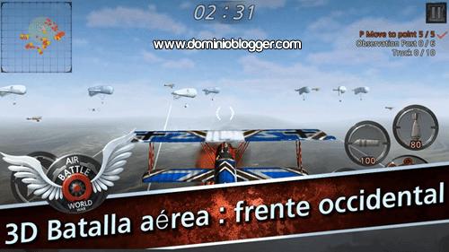 Feroces combates aereos en el juego Air Battle World War