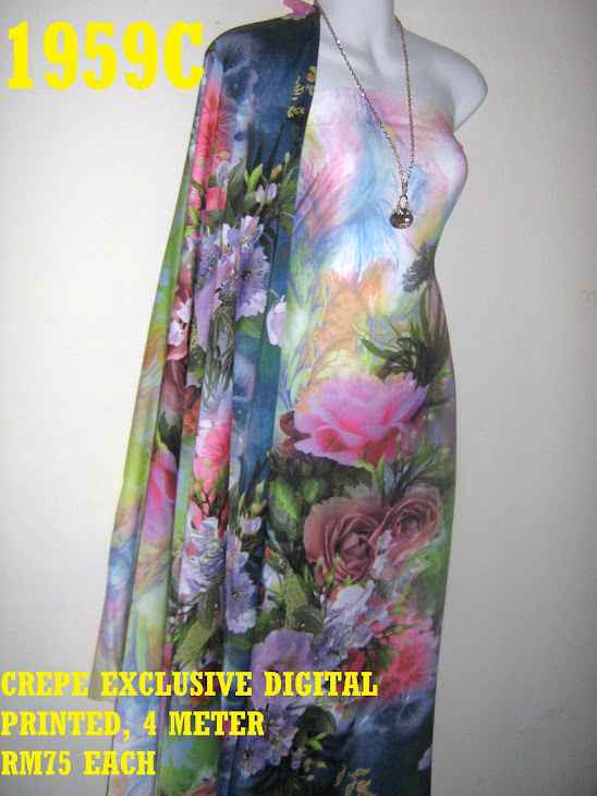 CDP 1959C: CREPE EXCLUSIVE DIGITAL PRINTED, 4 METER