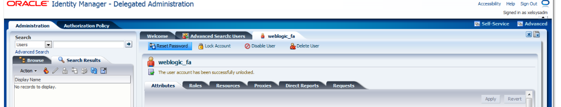 Oracle Fusion Applications Unlocking The Account Which
