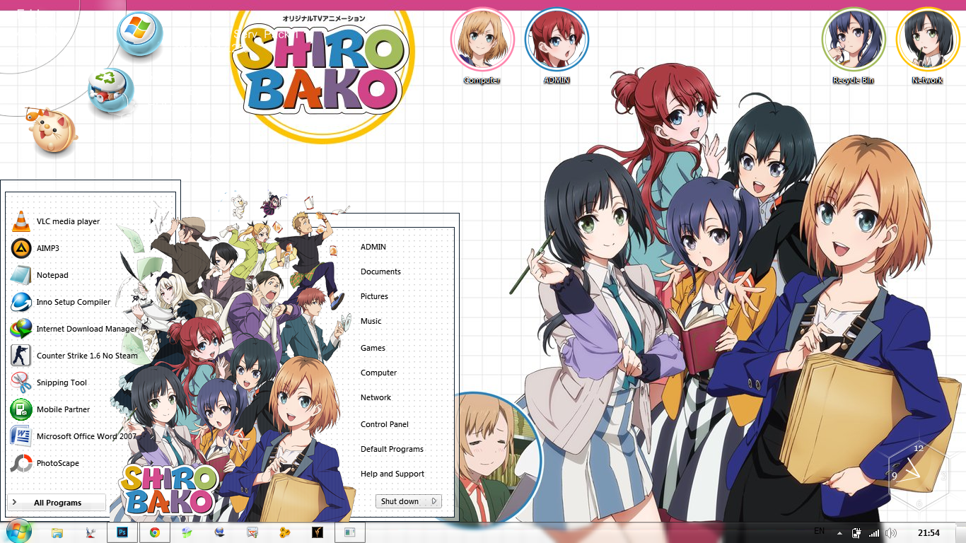 [Theme Win 7] Shirobako By Bashkara