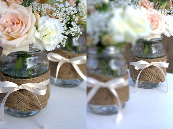 Mason Jar Vase This would be a perfect centerpiece for a spring brunch or a