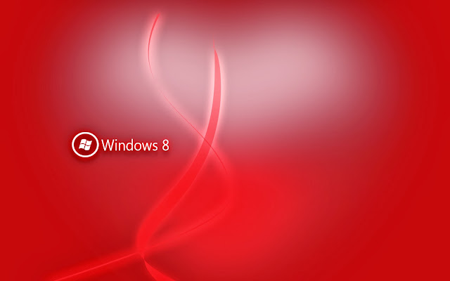 Roten Windows 8 hintergrund