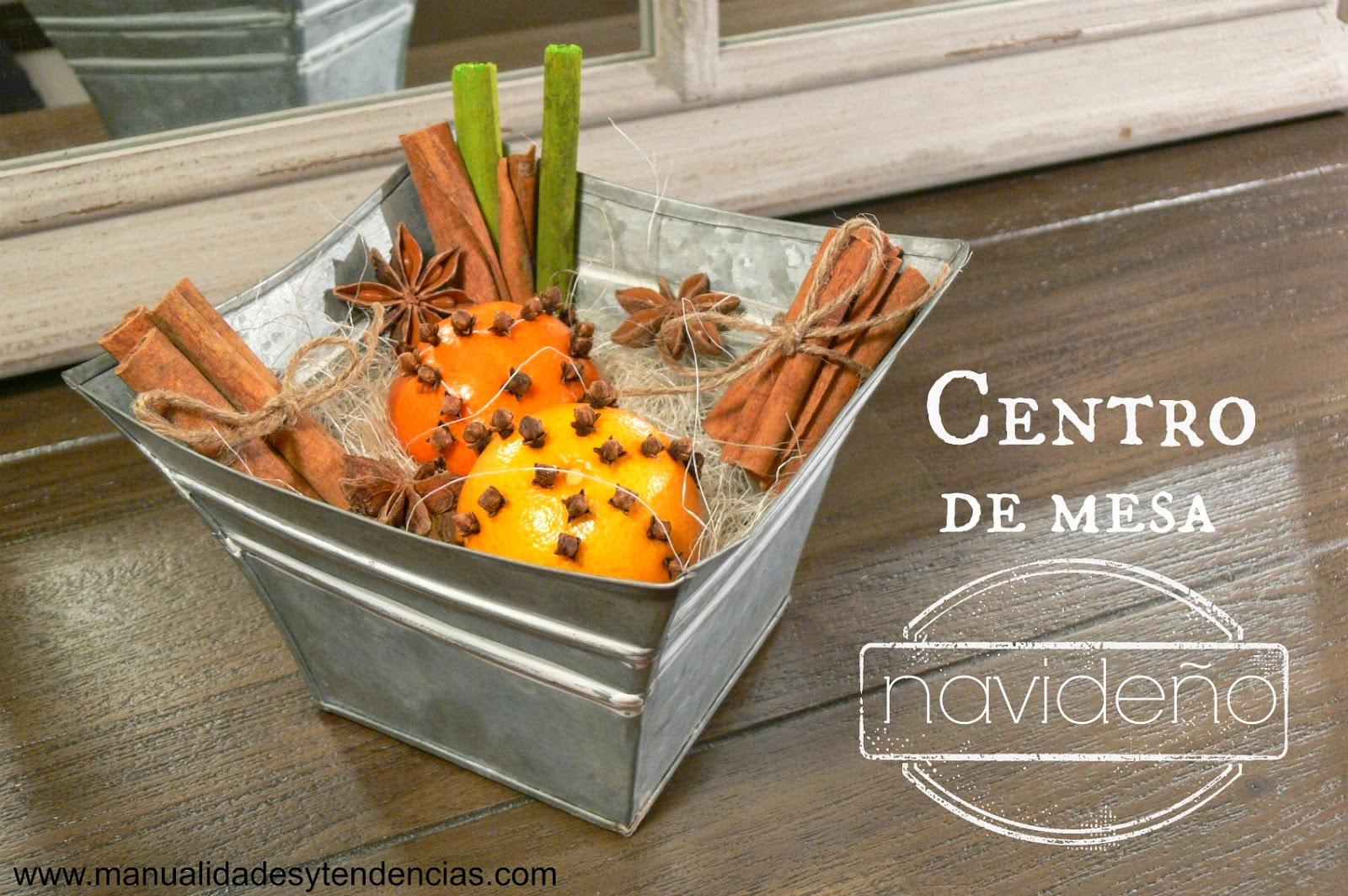 Manualidades y tendencias centro de mesa navide o - Manualidades centros de navidad ...