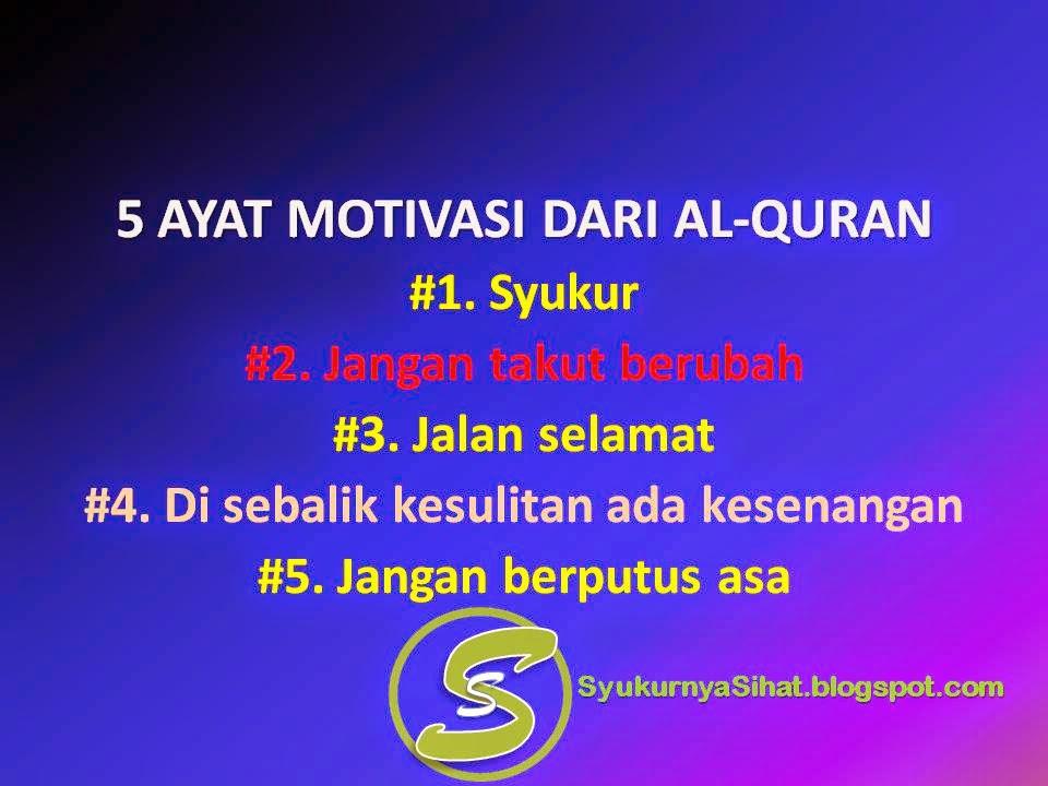5 Ayat Motivasi Dari Al-Quran