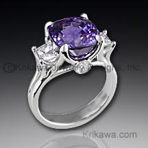 Purple Sapphire Right Hand Ring