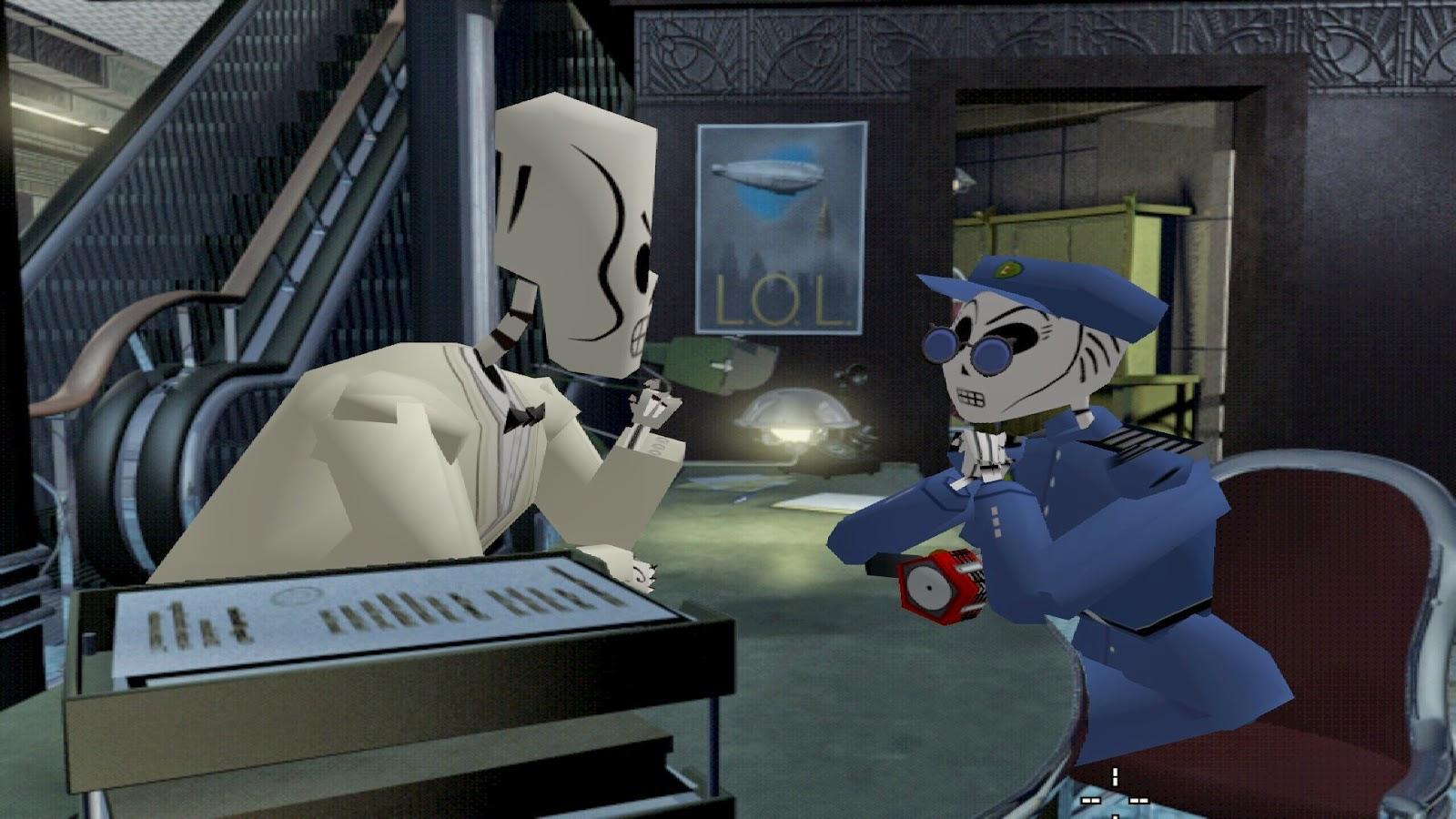 Grim Fandango Remastered security guard