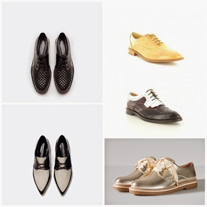 Sapatos Oxford da Zara, Seaside e Stradivarius
