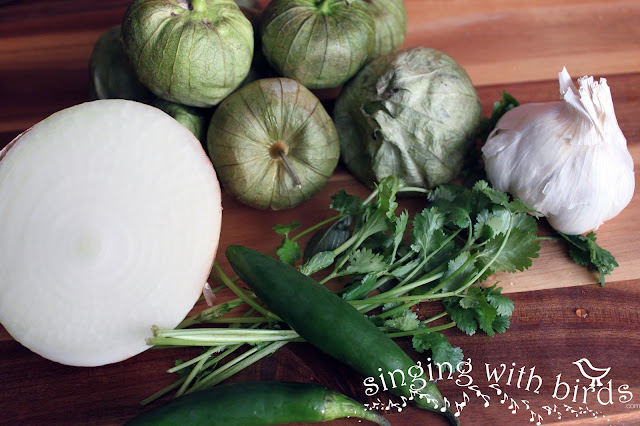 ingredients tomatillo salsa