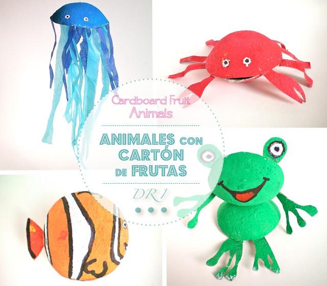 animales carton de frutas DRI