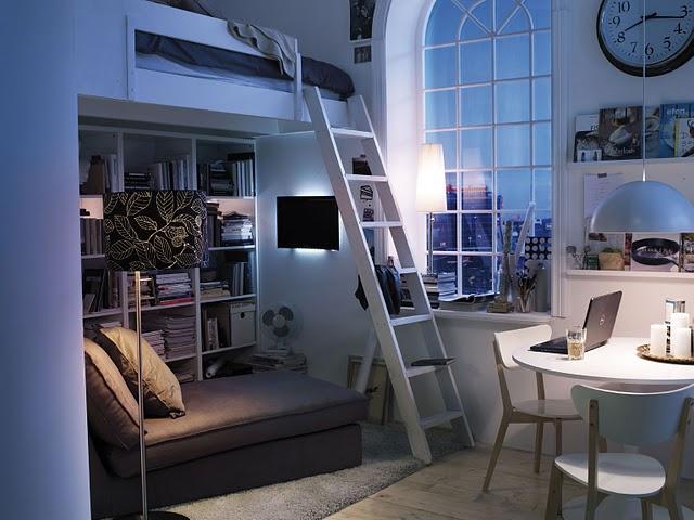 Decoraci n f cil camas en altillos - Altillos en habitaciones ...