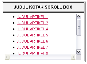 Tips & Tricks - Cara buat scroll box