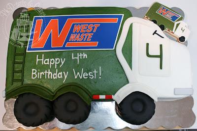 garbage truck birthday cake cookies
