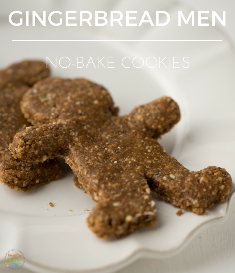 no-bake vegan gingerbread men for the holidays
