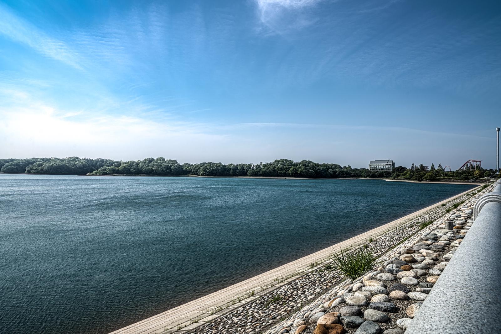 多摩湖のHDR写真 2枚目