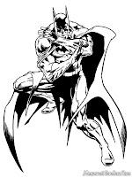 Halaman Mewarnai Gambar Batman