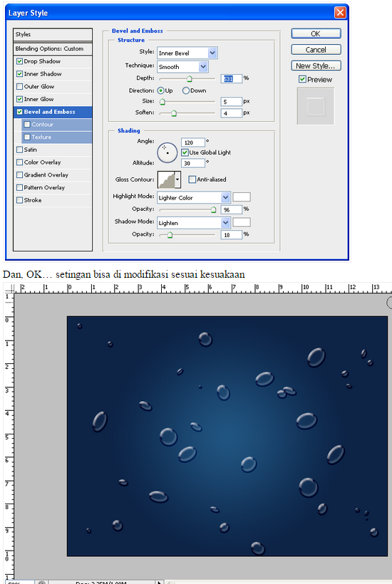 Cara Membuat Efek Air di Photoshop