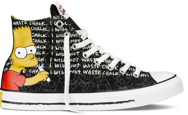 zapatillas converse de los Simpson