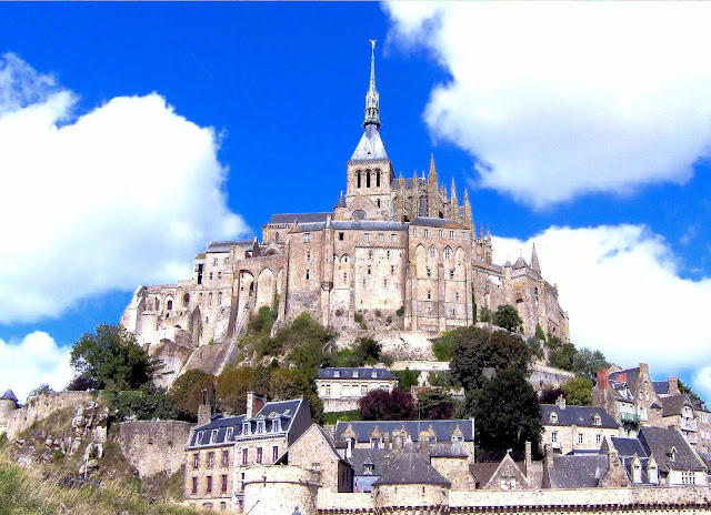 Mont Saint-Michel and its medieval village in Normandy, France. Photo: WikiMedia.org.